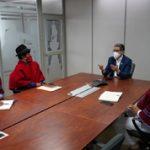 Dirigentes indígenas del MIT dialogan con Alcalde de Ambato.