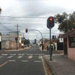Hoy entraron en funcionamiento nuevos sistemas semafóricos en la ciudad.