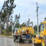 Se construyen 16 Km en vías en 4 parroquias del cantón Ambato.