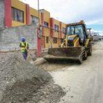 Municipalidad adoquina 11 pasajes en diferentes barrios de Ambato.