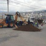 Municipalidad interviene en la vía a Pinllo
