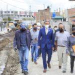 Alcalde recorre obras de regeneración urbana y estructura vial