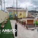Concluye rehabilitación del área municipal del barrio Los Andes.