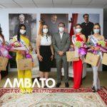 Alcalde apoyará labor social de las candidatas a Reina de Ambato