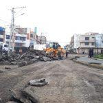 Maquinaria pesada realiza trabajos de remoción de carpeta asfáltica en Huachi Chico