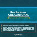 COE Cantonal prohíbe toda actividad comercial en los alrededores de recintos electorales