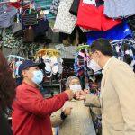 Alcalde atiende pedidos de los comerciantes del centro comercial Ferroviario y Juan Cajas