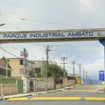 Vías internas del Parque Industrial Ambato con fisonomía renovada