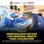 Municipalidad contratará personal médico como apoyo de vacunación