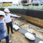 Alcalde verifica avance de construcción del paso a desnivel de Huachi Chico