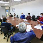 Clase del volante ambateño dialoga con la Municipalidad sobre necesidades