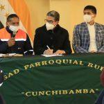 Parroquia Cunchibamba se beneficia de moderno alcantarillado sanitario