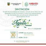 Municipalidad de Ambato presentó el programa 'Agosto Mes de la Juventud'