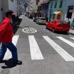 Municipalidad apoya plan de regreso a clases con señalización vial.