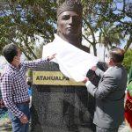 Parroquia Atahualpa cuenta con busto en homenaje a su patrono